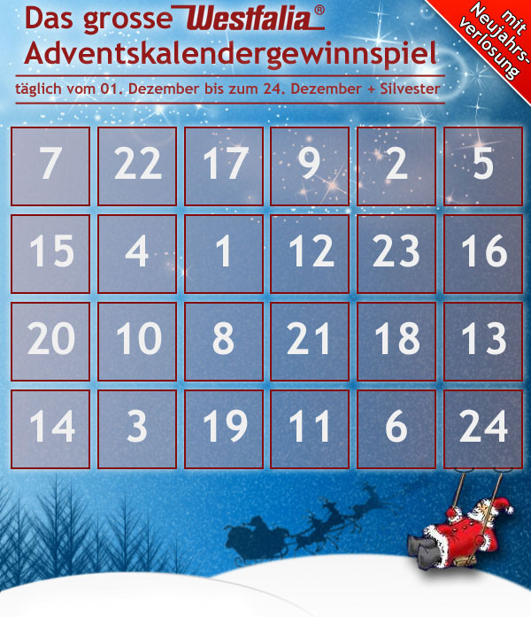 westfalia adventskalender